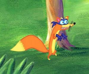 The fox Swiper is always trying to steal something to Dora puzzle