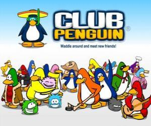 The funny penguins from Club Penguin puzzle