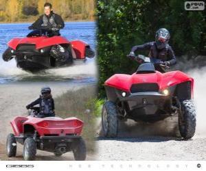 The Gibbs Quadski is an amphibious quad bike/ATV prototype puzzle