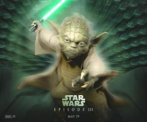 The great master Yoda, a Jedi master puzzle