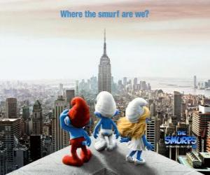 The group of Smurfs, wonder where the Smurf are we. - The Smurfs Movie - puzzle