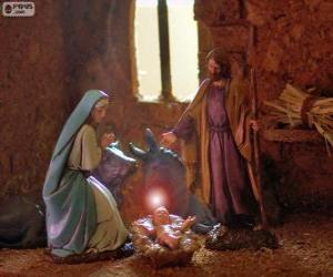 The Holy Family on Christmas Eve puzzle