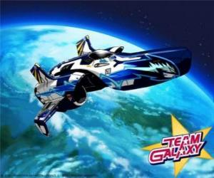 The Hornet is the spacecraft of the Team Galaxy puzzle