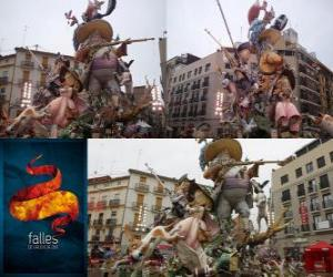 - The hunter hunted - winner of the Fallas 2011. The Fallas festival is celebrated from 15 to 19 March in Valencia, Spain. puzzle