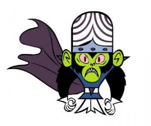 The intelligent monkey Mojo Jojo is the greatest enemy of the Utonium sisters, the Powerpuff Girls puzzle
