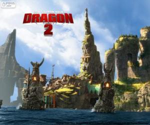 The island of Berk, How to Train Your Dragon 2 puzzle