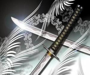 The katana is the most famous weapon from ninja and samurai puzzle