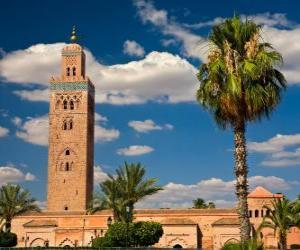 The Koutoubia Mosque or Kutubiyya Mosque, Marrakech, Morocco puzzle