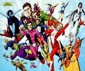 The Legion of Super-Heroes is a superhero team comic books belonging to the universe belonging to the DC editorial. puzzle