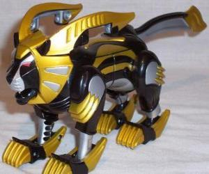 The Lion Zord, Yellow Power Ranger. Ninja Power Rangers puzzle