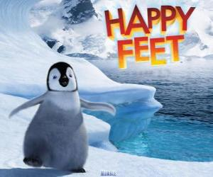 The little emperor penguin, protagonist of Happy Feet puzzle