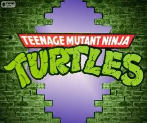 The logo of Ninja Turtles puzzle