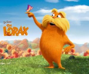 The Lorax, the furry giant is the guardian of the forest who speaks with trees puzzle