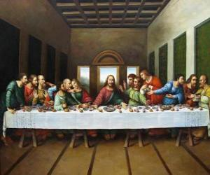 The Lord's Supper or Last Supper - Jesus gathered with his apostles on the night of Holy Thursday puzzle