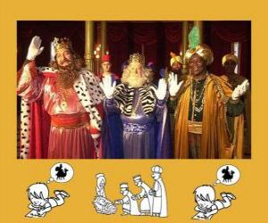 The Magi or Three Wise Men, Caspar, Melchior and Balthasar puzzle