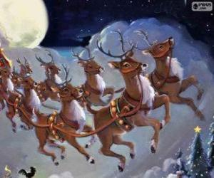 The magic to pull the sleigh reindeer puzzle