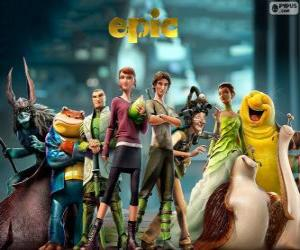The main characters of the film Epic puzzle