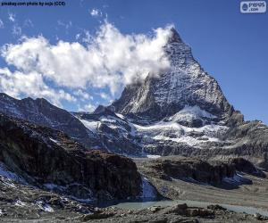 The Matterhorn, Switzerland and Italy puzzle