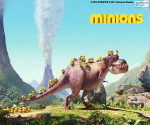 The Minions with the dinosaur puzzle