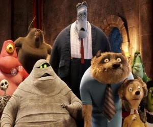 The most famous guests at the Hotel Transylvania puzzle