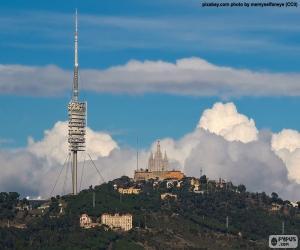 The mountain of Tibidabo, Barcelona puzzle