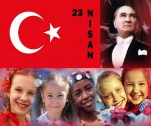 The National Sovereignty and Children's Day is hold in Turkey every 23th april puzzle