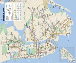 The New York City subway map puzzle