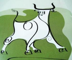The Ox, the sign of the Ox, the Year of the Ox. The second animal of the Chinese Zodiac puzzle