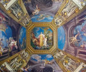 The painting of a dome of the Vatican puzzle