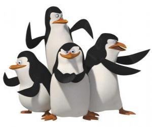 The penguins, Skipper, Kowalski, Rico and Private. puzzle