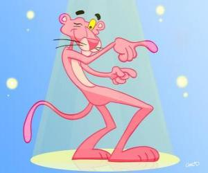 The Pink Panther dancing puzzle