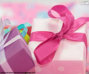 The pink ribbon gift puzzle