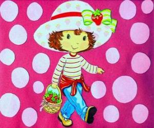 The pretty doll Strawberry Shortcake puzzle