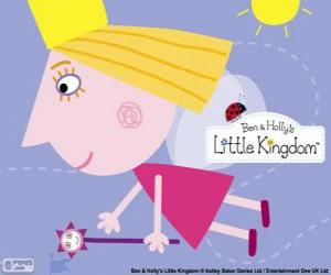 The princess fairy Holly with the magic wand puzzle