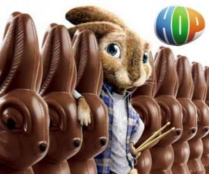 The rabbit EB should succeed his father as the Easter Bunny. Hop, the film puzzle