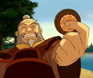 The retired General Iroh known as the dragon of the West  is Zuko's uncle and mentor puzzle
