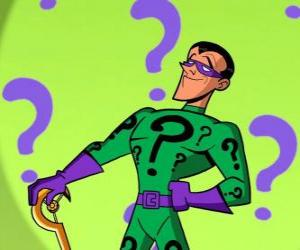 The Riddler or Nigma is a supervillain obsessed with riddles and an enemy of Batman puzzle