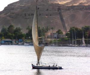 The River Nile is the largest river in Africa, passing through Egypt puzzle