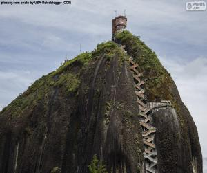 The Rock of Guatape or The Stone of El Peñol puzzle