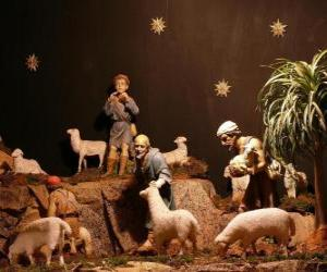 The shepherds of the nativity characters puzzle
