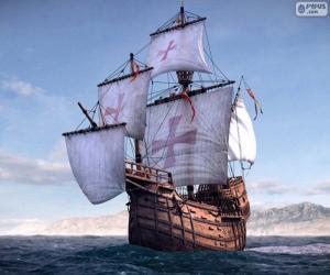 The ship Santa Maria puzzle