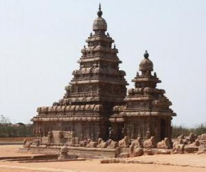 The Shore Temple over looks the Bay of Bengal and is built with blocks of granite, Mahabalipuram, India puzzle