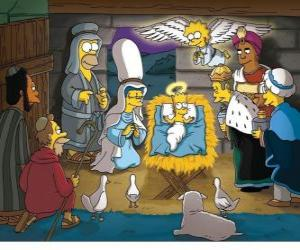 The Simpsons in the manger puzzle