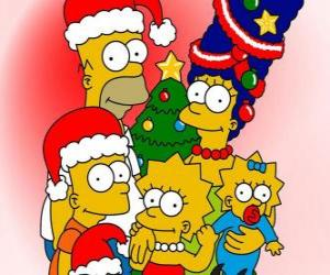 The Simpsons wishing you a Merry Christmas puzzle