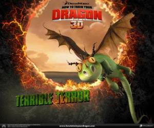The smallest dragons are the Terrible Terror, they are usually found in flocks puzzle