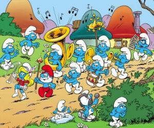 The Smurfs are a band puzzle