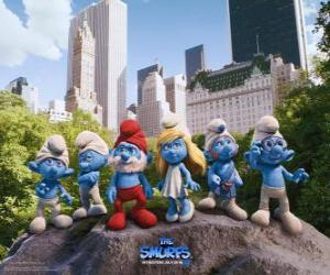The Smurfs in Central Park in New York City - The Smurfs Movie - puzzle