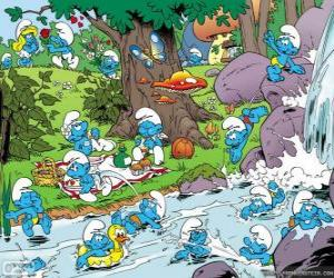 The Smurfs in the river puzzle