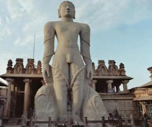The statue of Bahubali, also known as Gommateshvara, in the Jain Temple of Shravanabelagola, India puzzle