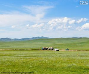 The steppe of Mongolia puzzle